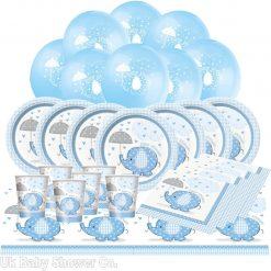 Umbrellaphants Blue Baby Shower kit