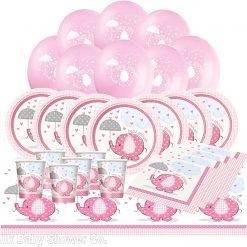 Umbrellaphants Pink Baby Shower decorations