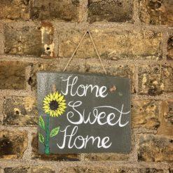 Home Sweet Home Hanging Slate Sign