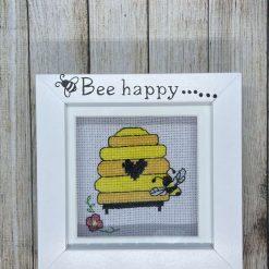 Bee happy cross stitch
