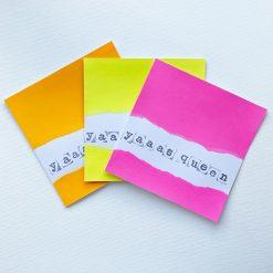 Yaaas Queen - Handmade Card & Matching Gift Tag