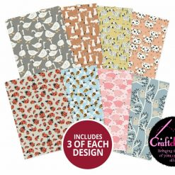 Hunkydory - Adorable Scorable Pattern Packs - Creatures Great & Small - A4 - 350gsm - 24 Sheets