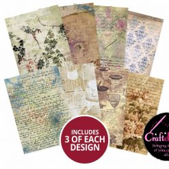 Hunkydory - Adorable Scorable Pattern Packs - De-stressed Paper - A4 - 350gsm - 24 Sheets