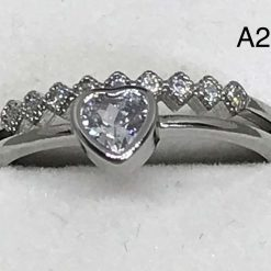 A252 Silver ring with Heart