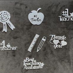 Teacher/ Teaching assistant 7pk cupcake toppers