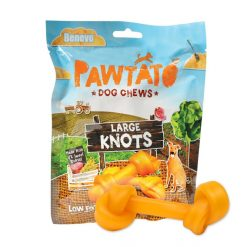 Pawtato Large Knots, Vegan Dog Treats 180g