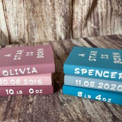Personalised Baby Bookstack