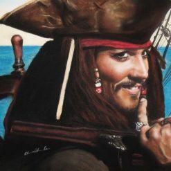 """Captain Jack"" - Original Pastel Painting of Johnny Depp"