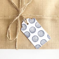 Hand Stamped Sphere Pattern Gift Tags (set of 6)