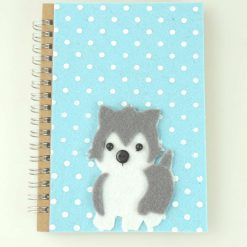 A6 Notebook with a Husky Puppy Dog Cover, Ideal Gift, Notes, handbag sized, Lined pages, Dog Lovers Gift