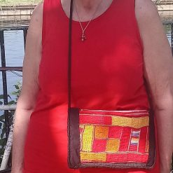 Embroidered crossbody clubbing bag