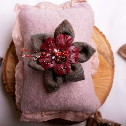 Veronica - tartan flower brooch or hair accessory