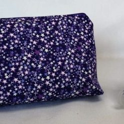 'Love You to the Stars and Back' 🔯 COSMETIC BAG Gift Set 🔯 Purple Multi Stars Design 🔯 inc. Pocket Tissue Pouch 🔯 Soft Touch 100% Cotton