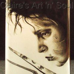 Edward ( Johnny Depp) - 8oz Hand Painted Hip Flask