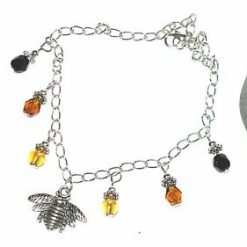 Bumble bee and drop anklet