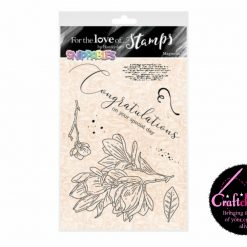 For The Love Of Stamps - Hunkydory - Moonstone - Snippables - Lily A5 Stamp Set
