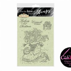 For The Love Of Stamps - Hunydory - Little Red Robin - Robin's Beautiful Bouquet - A6 Clear Stamp