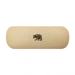 Bronze Grizzly Bear Hard Glasses Case