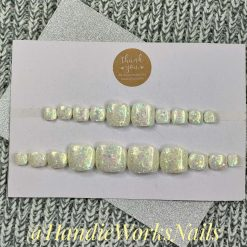 Retro Freehand Press On Custom Made Nails