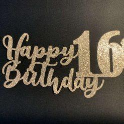 Happy 16th Birthday Cake Topper
