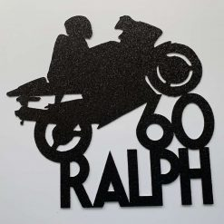 Personalised Motorcycle Cake Topper any age and name