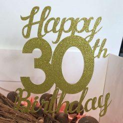 Happy (age) Birthday Cake Topper