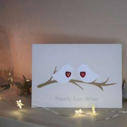 'Love Birds' Wedding Card