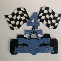 Race Car Cake Topper with Age