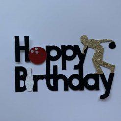 Bowling Happy Birthday Cake Topper