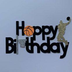 Basket Ball Happy Birthday Cake Topper