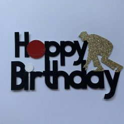 Lawn Bowls Happy Birthday Cake Topper