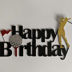 Golf Happy Birthday Cake Topper (female)