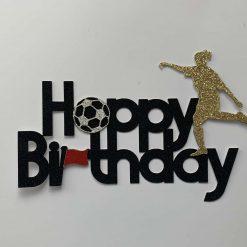 Football Happy Birthday Cake Topper (female)