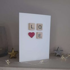 Scrabble Tile Wedding Card