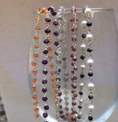 925 gemstone chain - Carnelian