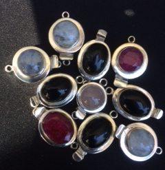 925 gemstone clasp - Rose Quartz