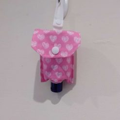 Hand sanitizer holder grey and white suitable for 100ml or 50ml