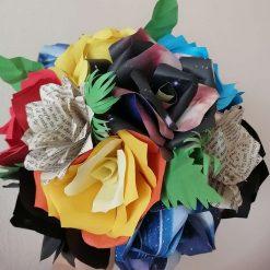Handmade paper flower bouquet mixed