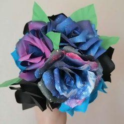 Space roses paper flower bouquet