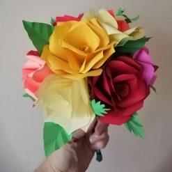 Mixed colour rose bouquet
