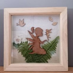 Fairy blowing kiss wooden box frame (free p&p)