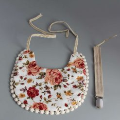 Double Sided Star/patterned Bib Set with Matching Dummy Clip