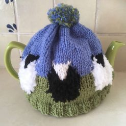 Sheep Tea Cosy - Hand Knit in Merino Wool - for 6 cup pot - Black & White