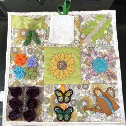 Fidget blanket: Garden theme