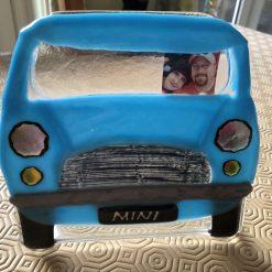 Fused Glass 1959-61 Blue Mini Car Photo Frame