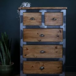 The Tallboy | Industrial Chest of Drawers | Elegant office table |