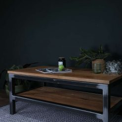 The Buster | Industrial Oak Coffee Table | Stylish Side table |