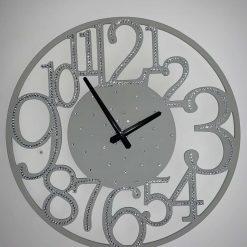 40cm Wooden Crystal Wall Clock