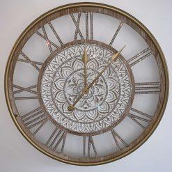 60cm Wooden Crystal Wall Clock