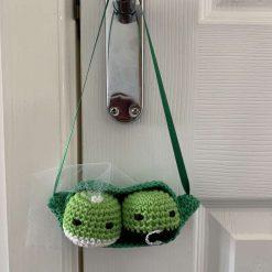 Handmade Crochet Bride and Groom Peas in a Pod